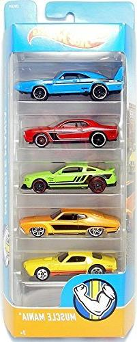 Hot Wheels 2018 Muscle Mania 1:64 Scaled 5-Pack