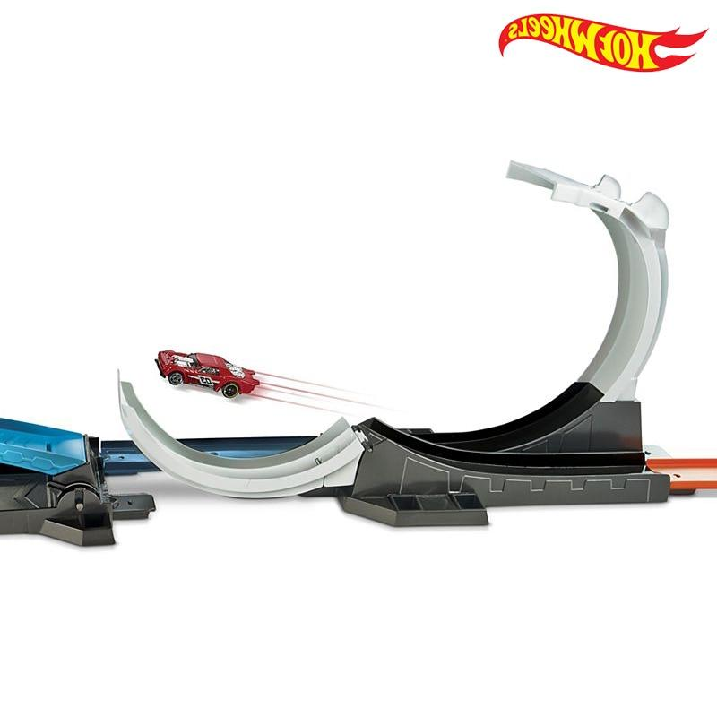 2018 Hotwheels Challenge Carros Track Model Metal Toys Children