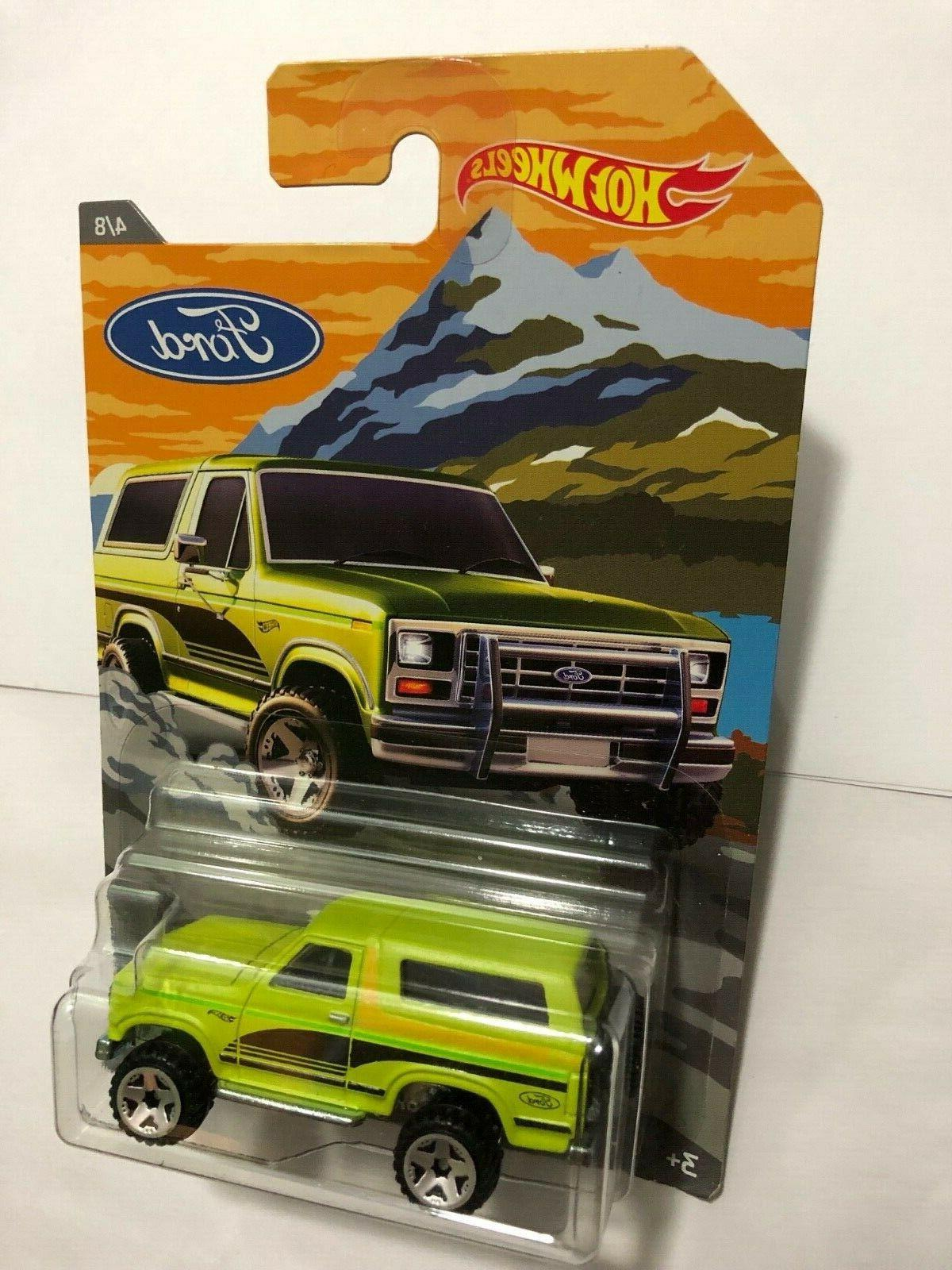 HOT WHEELS 2018 WALMART EXCLUSIVE FORD TRUCK SERIES FORD BRONCO 4X4 - $6.75