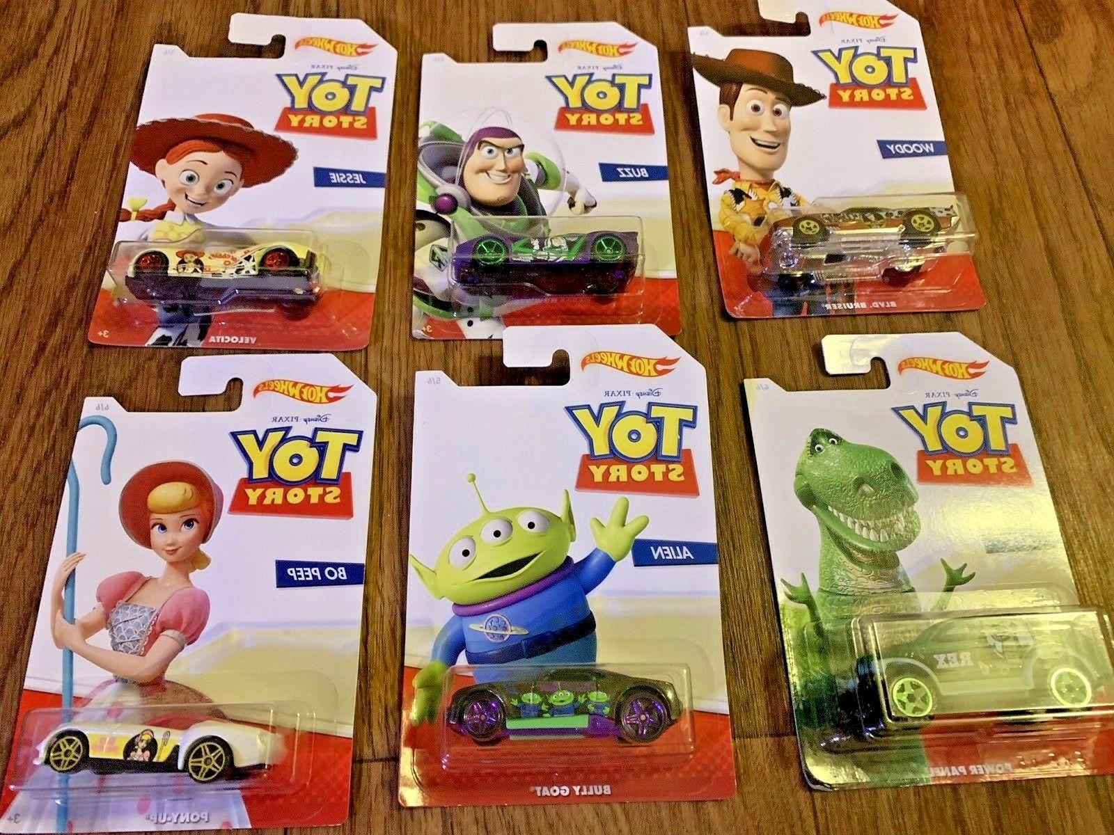 2019 Wheels Disney Pixar Toy 4 *Complete Set FREE