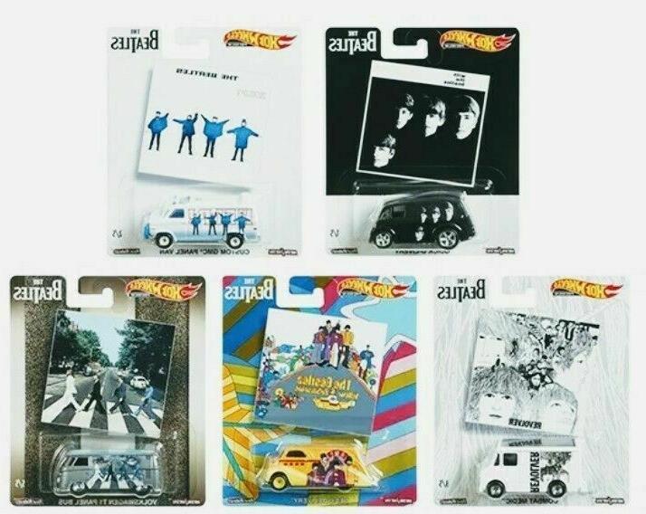 Hot Wheels 2019 Pop Culture The Beatles, 1/64 Diecast Cars,