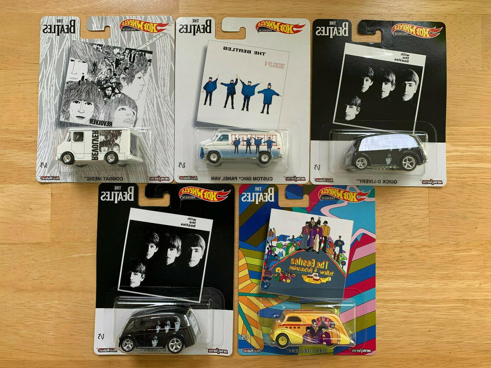 2019 the beatles set of 5 cars