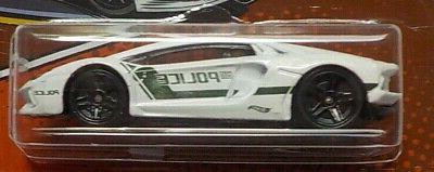 2020 Hot Wheels POLICE ART Lamborghini Aventador 4/5