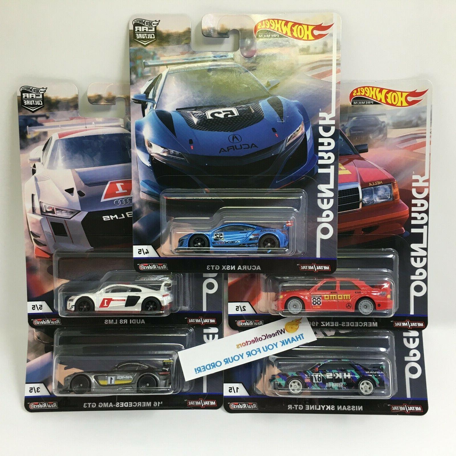 5 car set 2019 car culture case