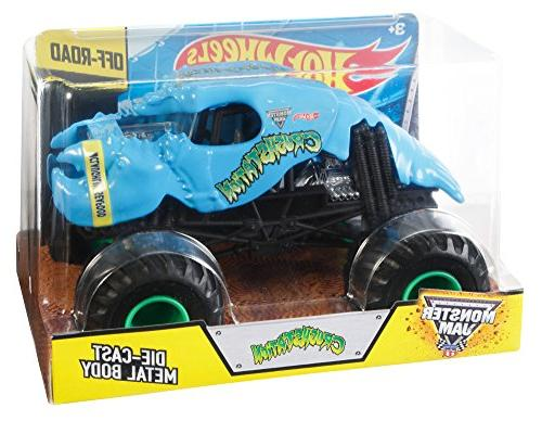Hot Wheels Monster Crushstation Die-Cast Vehicle Scale, Blue