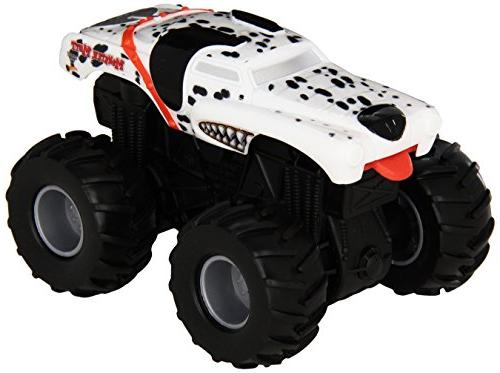 Hot Wheels Monster Jam Rev Tredz Monster Mutt Dalmatian Vehi