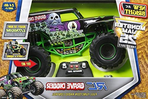 New Bright 61030G Monster Jam Digger RC Car, 1:10