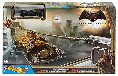 Batman Batmobile Hot Wheels Zip Line Launcher