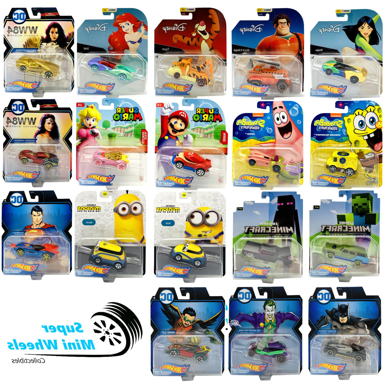 character cars disney minecraft spongebob mario