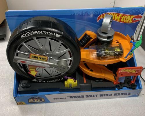 city super spin tire shop play set