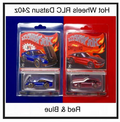 datsun red 240z and selections blue 72