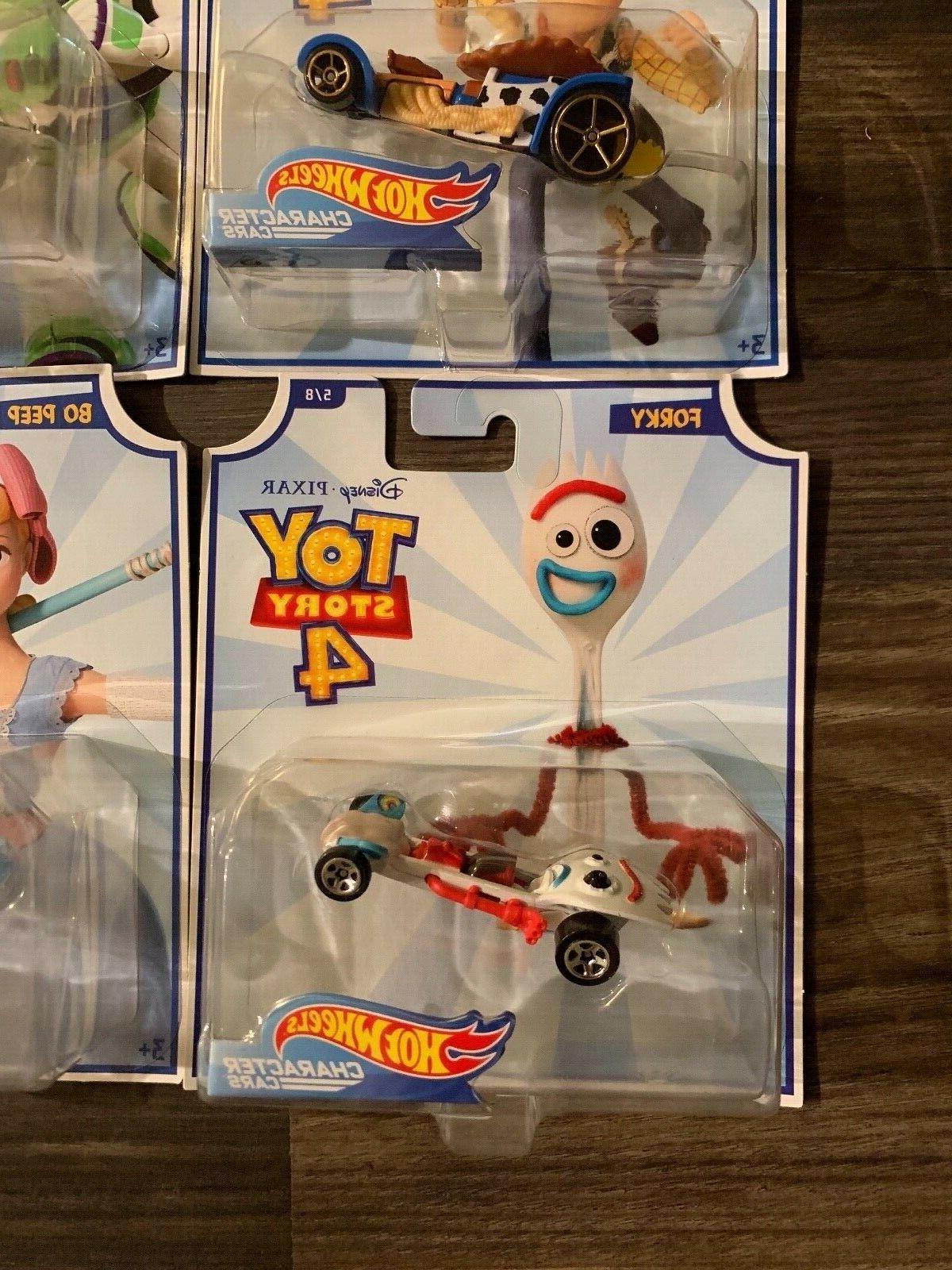 Hot Wheels Disney Pixar Toy 4 Full set Cars Woody, Peep.....