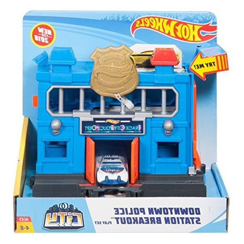Hot Wheels Downtown Police Station Breakout Playset