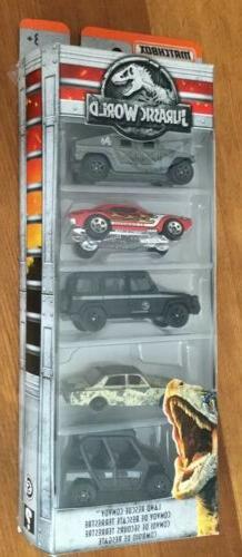 Matchbox/Hot Wheels 5 Car Assorted Lot Jurassic Park,used/NE