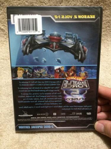 Hot Wheels: Battle Force 5-Fused, Season 2, 1-2, New Set