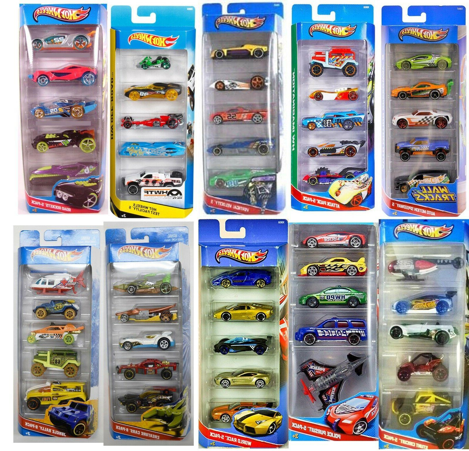 hot wheels cars 5 packs