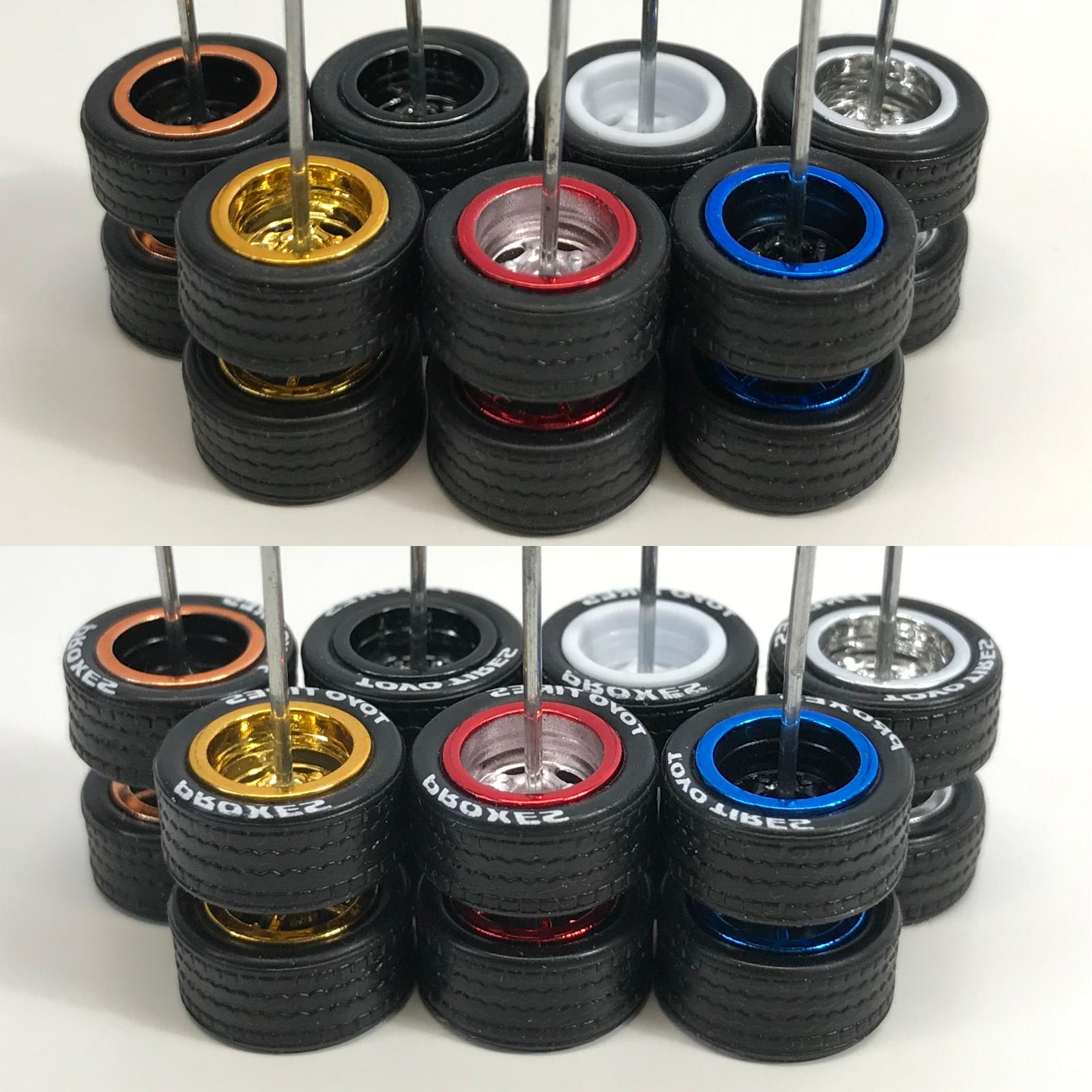 Hot Wheels Riders Wheels Tires Set for 1/64 Scale