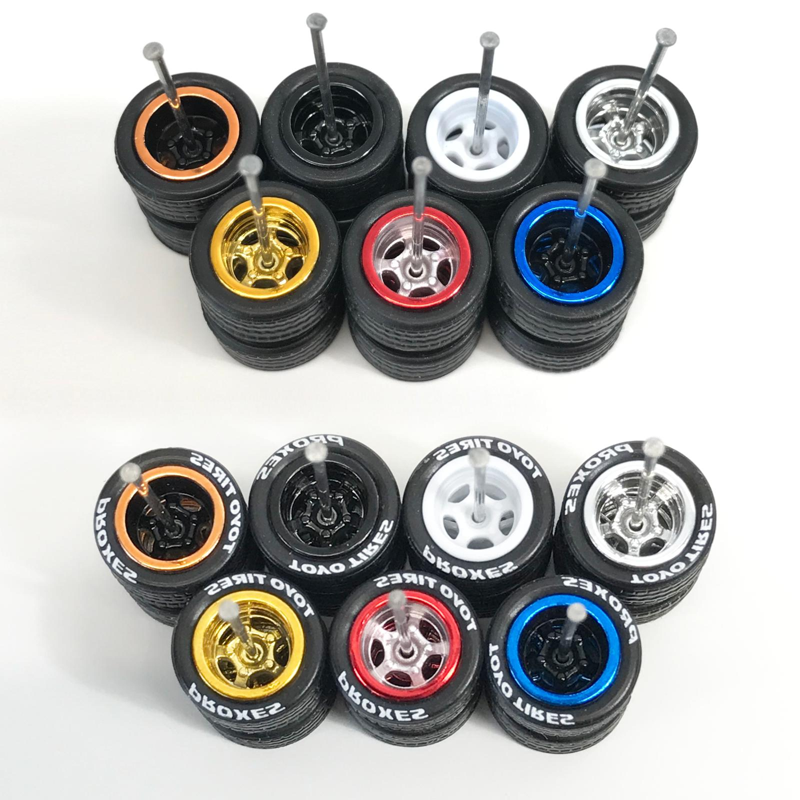 Hot Real Wheels and Set for 1/64 Scale