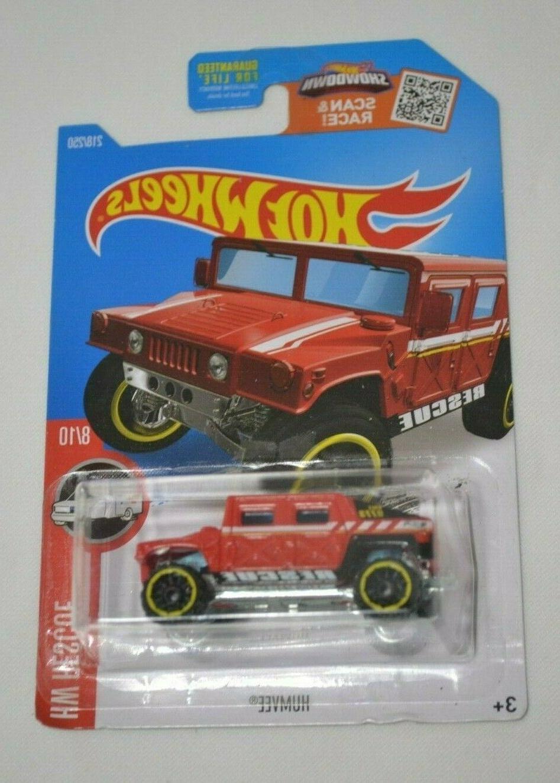 hw rescue 8 10 humvee red 218