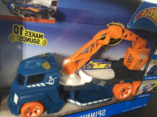 Hot Wheels and Sounds Spinnin' Sound Crane