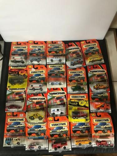 lot of 35 new various years matchbox