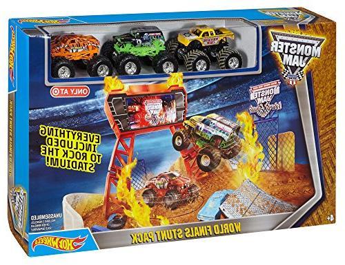 Hot Wheels Monster Jam World Stunt Play