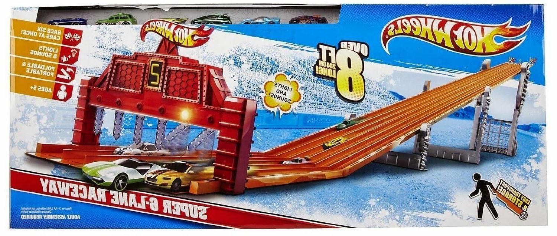 Hot Super Lane Raceway Cars Sound Over 8'