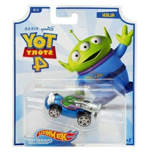 TOY STORY 4 HOT WHEELS CHARACTER CARS DISNEY LOT REX BUZZ WO