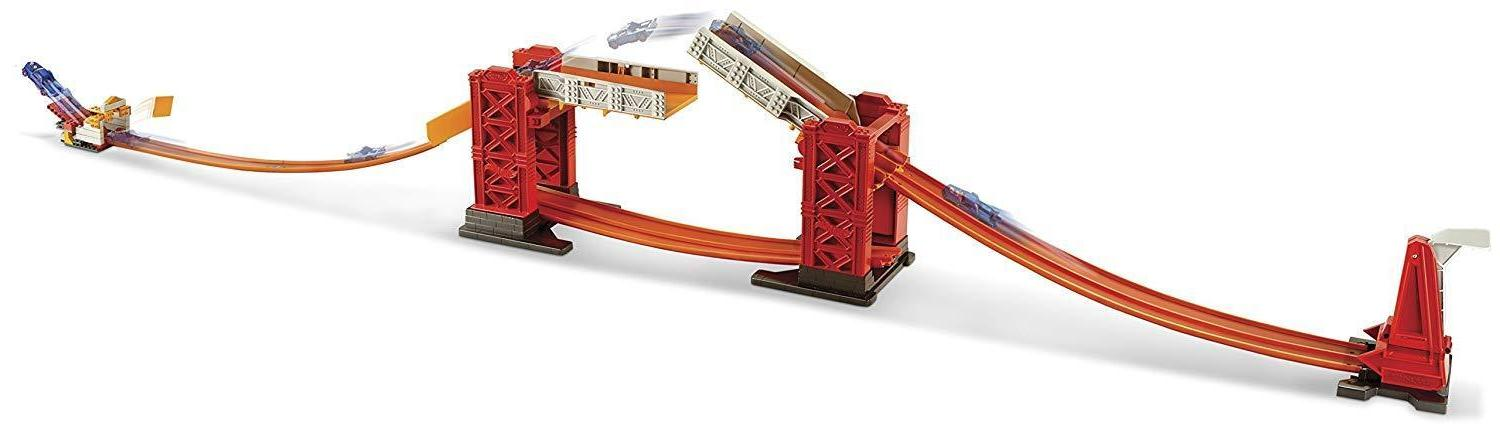 Hot Wheels Builder Stunt Bridge Racing Play 70+