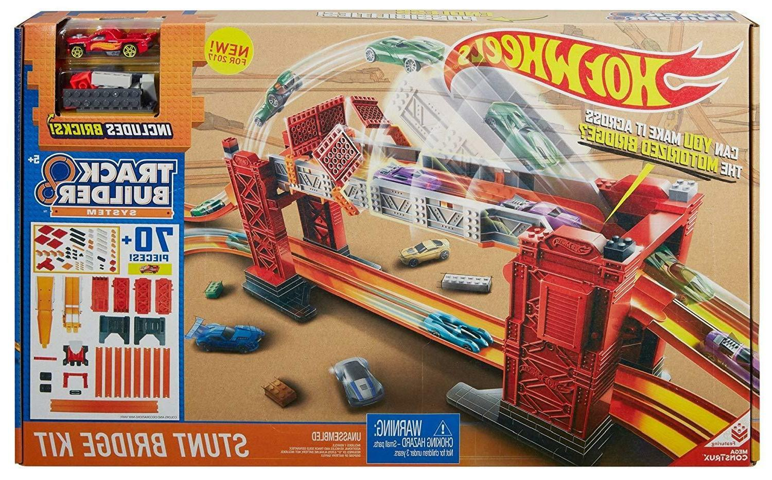 track builder stunt bridge kit car racing