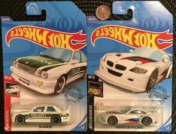 Lot of 2 Hot Wheels '92 BMW M3 Polizei and BMW Z4 M Motors
