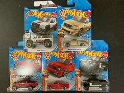 Hot Wheels Lot of 5 Cars w/ Ford F150 SVT Lightning, Toyota