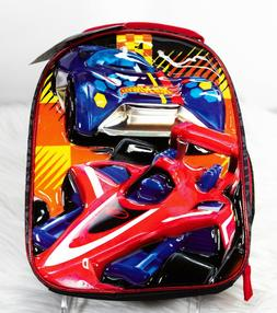 Hot Wheels Lunch Box New Insulated Lunchbox Tote Bag Race Ca