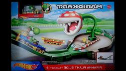 Hot Wheels Mario Kart Piranha Plant Slide Trackset Kid Toy G