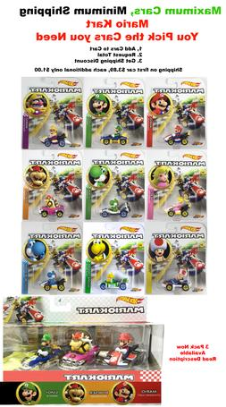 Hot Wheels Mario Kart You Pick Your Cars, Only $1.00 shippin