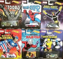 Marvel 2015 Hot Wheels Pop Culture Series 6 Cars Spider-Man,
