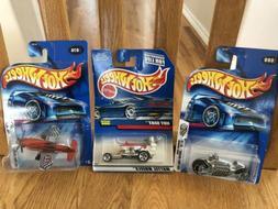 Mattel Hot Wheels Lot of 3 Die Cast Adult Collectible Unique