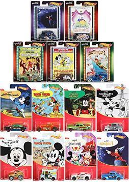 Mega Cartoon Car Hot Wheel Disney Pack Mickey Mouse Characte