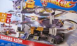 Hot Wheels MEGA GARAGE Multi Level Action Playset with ELEVA