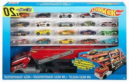 HOT WHEELS MEGA HAULER WITH 20 DIE CAST CAR/VEHICLES SET NEW