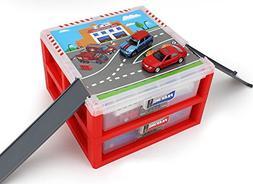 AITING Mini Parking Lot Vehicle storage box Toy Vehicle Gara