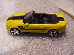 Hot Wheels Mint Loose 2015 Mustang GT Convertible Yellow wit