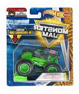 Hot Wheels Monster Jam 2018 New Look Grave Digger with Re-Cr