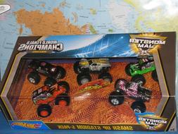 Hot Wheels Monster Jam 25 Smash Up Stadium 5 Pack 1:64 Brand