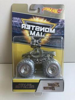 HOT WHEELS MONSTER JAM 25th ANNIVERSARY SILVER COLLECTION GR