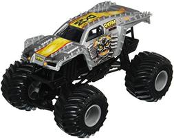 Hot Wheels Monster Jam Max-D Vehicle, Silver 1:24 Scale