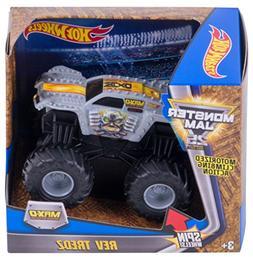 Hot Wheels Monster Jam Rev Tredz Max-D Vehicle, Silver