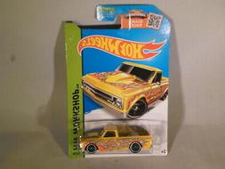 New 2015 Hot Wheels Scan & Race '67 Chevy Yellow #208/250