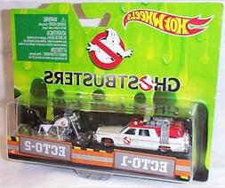 NEW Hot Wheels Classic Ghostbusters Ecto-1 Ecto-2 Die-Cast V