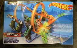 New Hot Wheels Corkscrew Crash Track Launch Set with One Veh